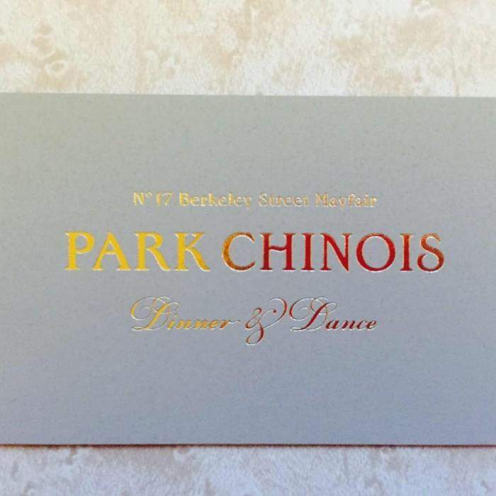 park chinois london